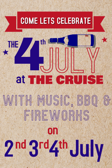 4th of july flyer Poster template