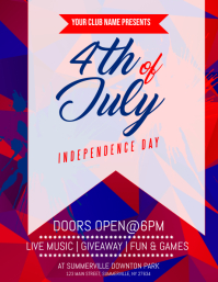 4th of July Flyer Рекламная листовка (US Letter) template