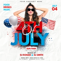 4th of July flyer Post Instagram template