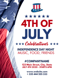 4th of july flyer design template usa flag pa ใบปลิว (US Letter)