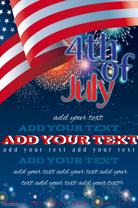 fourth of july event flyer template