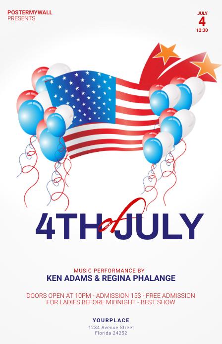 4th of july flyer template Tabloïd