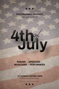 4th of july flyer template Plakat