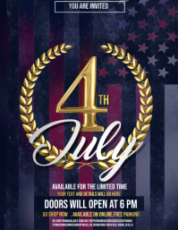 4th of July flyers,Veteran's day flyers