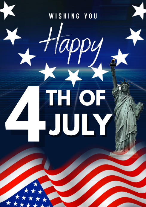 4th of July flyers A3 template