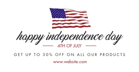 4th of july independence day facebook adverti Facebook-Anzeige template