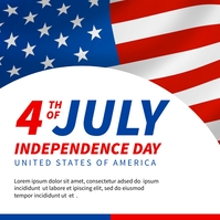 4th of July independence day banner Instagram-Beitrag template