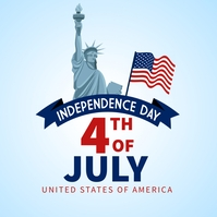 4th of July independence day post Instagram-Beitrag template