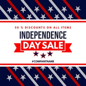 4th of july independence day sales advertisem Instagram Post template
