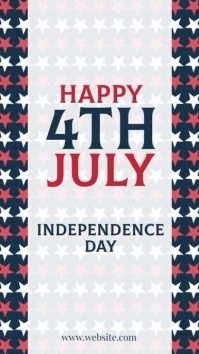 4th of july independence Instagram Story template