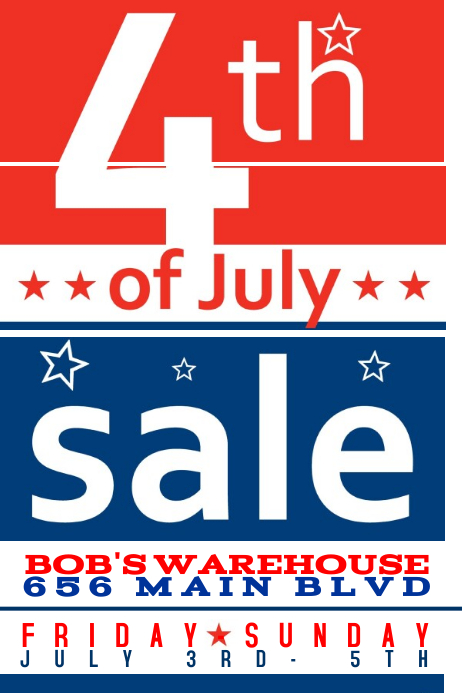 4th Of July Independence Sale Ad Store Flyer Template Postermywall