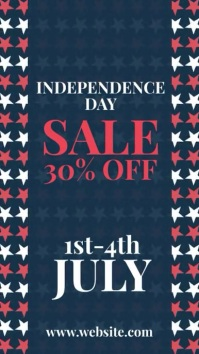 4th of july independence sale Instagram Story template