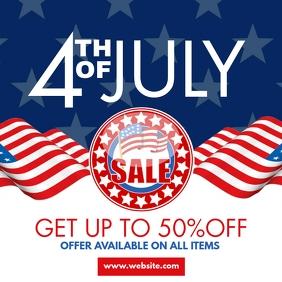 4th of july instagram post sales advertisemen template