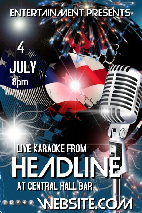 4th of July Karaoke Template