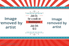 4th of July Memorial Day Presidents Day Parade Party Event