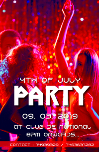 4th of July Party flyer 2019