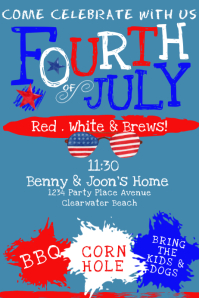 4TH OF JULY PARTY INVITATION Cartaz template