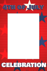 4th of July Party Prop Frame