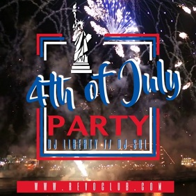 4th of July Party Video Template