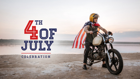 4th Of July Poster Facebook Cover Video (16:9) template