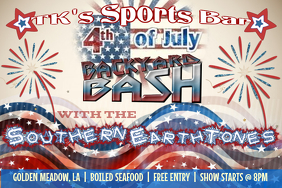 4th of July Event Flyer Poster