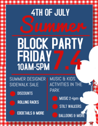 50 customizable design templates for block party postermywall
