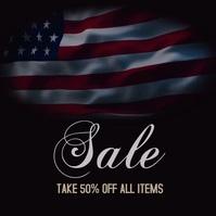 4th of July Sale Ad Video Сообщение Instagram template
