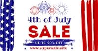 4th OF JULY SALE BANNER Facebook Gedeelde Prent template