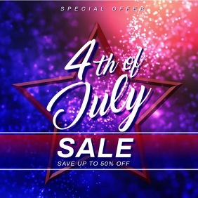 4th of july sale banner Instagram-bericht template