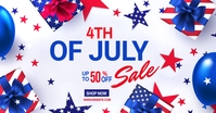 4th of July Sale Facebook-Anzeige template