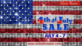 4th of July Sale Digital Display Facebook Cover Video (16:9) template