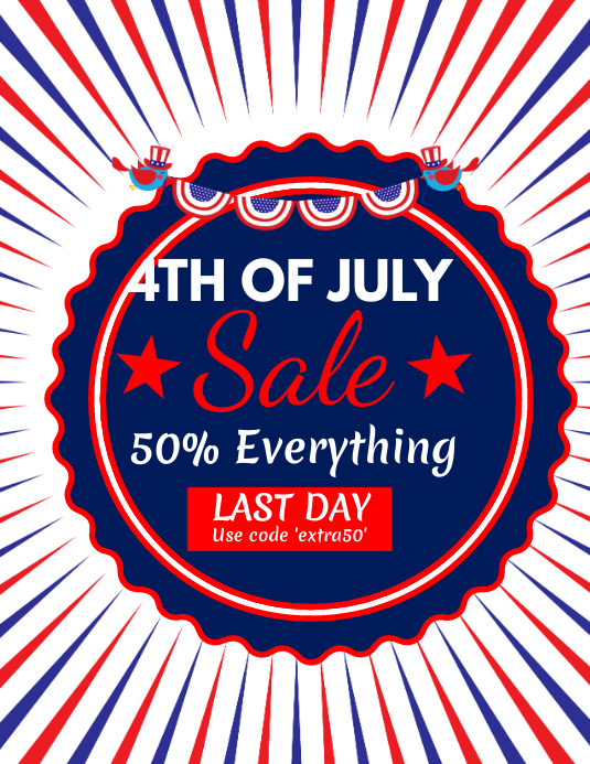 4th of July Sale Flyer