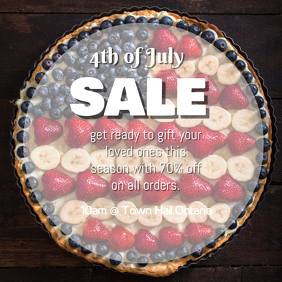 4th of July Sale Post Album Cover template
