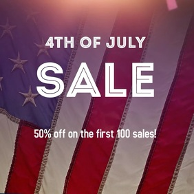 4th of July Sale Post Albumcover template