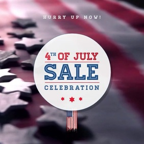 4th Of July Sale Poster Album Cover template