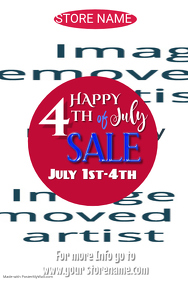 4th of July Sale Poster Template