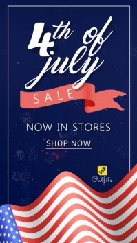 4th of July Sale Video Template