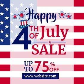 4th of july sales design template instagram p