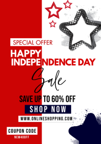4th of july special sale A4 template