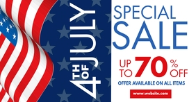 4th of july special sale facebook advertiseme template