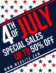 4th of july special sales flyer uo to 50% off
