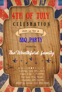 4th of july theme Poster template