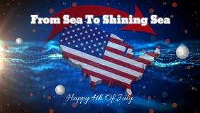 4th of july/USA/patriotic/navy Vidéo de couverture Facebook (16:9) template