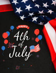 4th of july wishes FLYER Template