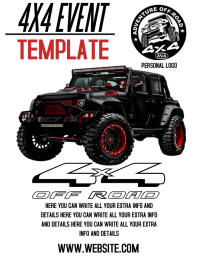 4X4 MOTOCROSS FLYER TEMPLATE