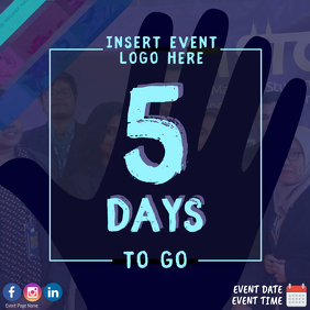 5 Days To Go Countdown Event Template