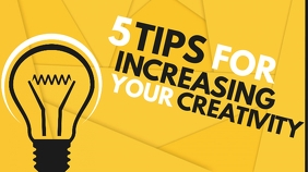 5 tips for increasing your creativity youtube template