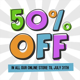 50% off retail instagram post video sale ad