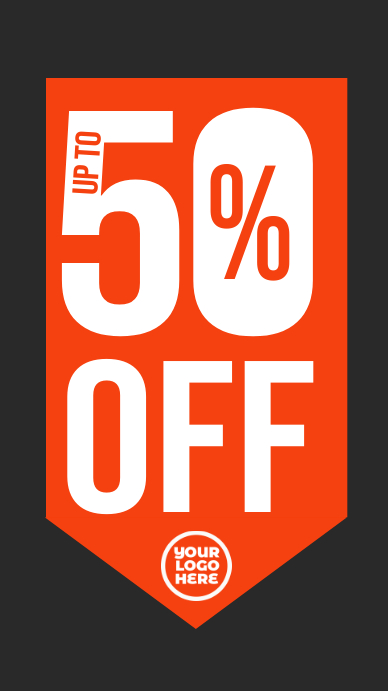50% off sale black friday instagram story Instagram-verhaal template