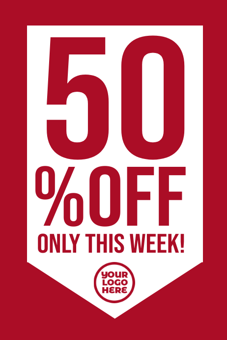 50% off sale clearance retail poster banner Plakkaat template